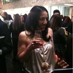 Fluoro Editor Nancy Bugeja enjoying her champers