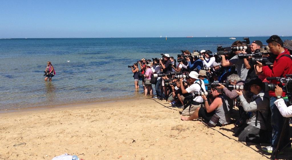 Fiona Hamilton at Aust Open trophy shoot for Li Na