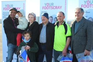 Your Footscray ambassadors at the launch - 9 July 2013 med